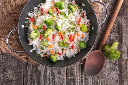 rice: arroz y verduras