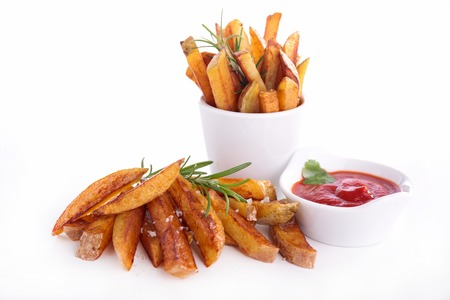 ketchup: french fries and ketchup