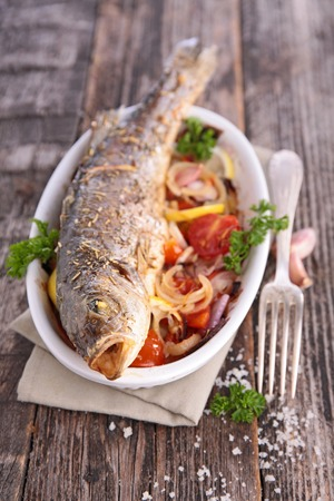 epicure: grilled fish Stock Photo