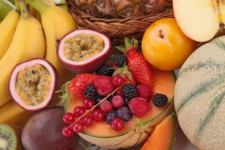 epicure: close up on fresh fruits Stock Photo