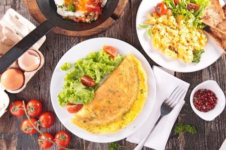 omelet,fried egg,scrambled egg