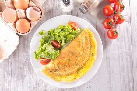 omelet: omelet and ingredients