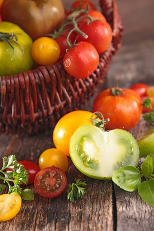 epicure: fresh tomato Stock Photo