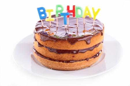 gateau chocolat: birthday chocolate cake Banque d'images