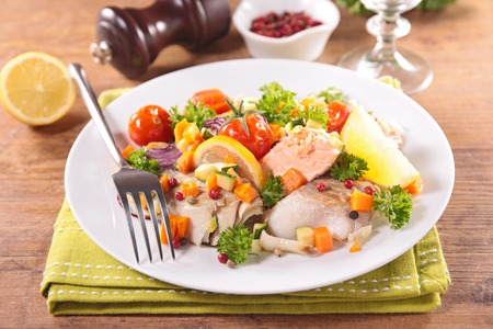 epicure: fish and vegetable