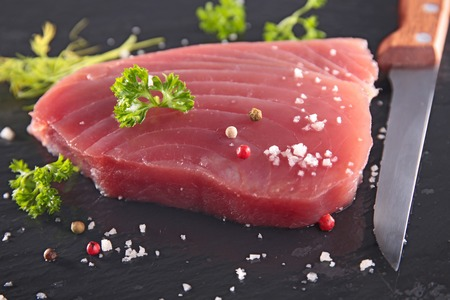 fresh fish: fresh tuna steak