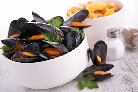 mussel: Mussel and parsley