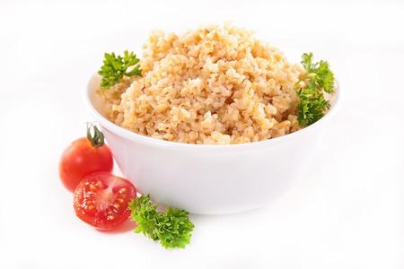 epicure: bowl of bulgur,quinona