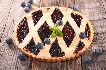 blueberry pie: Tarta de ar�ndanos  Foto de archivo