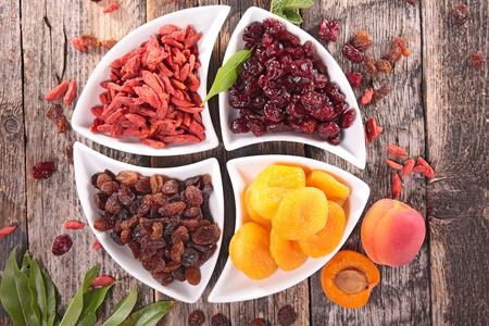 goji berry, cranberry,raisin and apricot