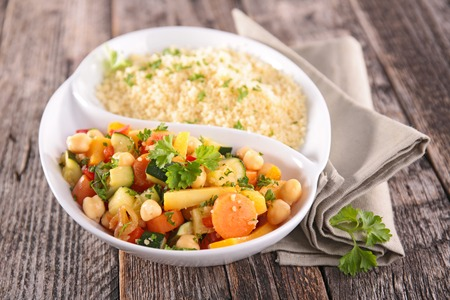 epicure: couscous and vegetables Stock Photo
