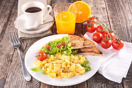 scrambled egg, breakfast