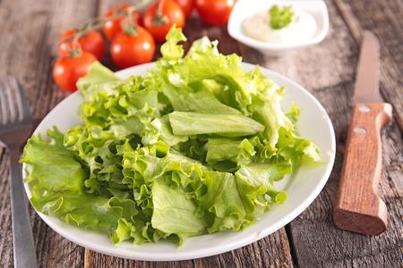 comidas saludables: lechuga fresca