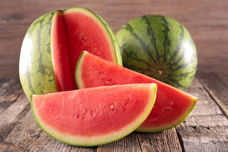 organic products: watermelon Stock Photo