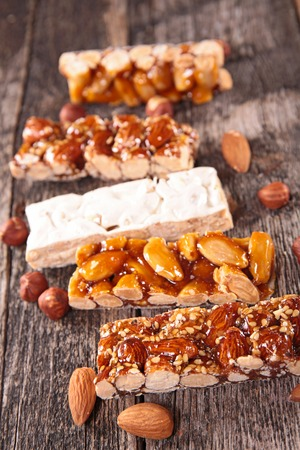 cereal bar: turron and  cereal bar