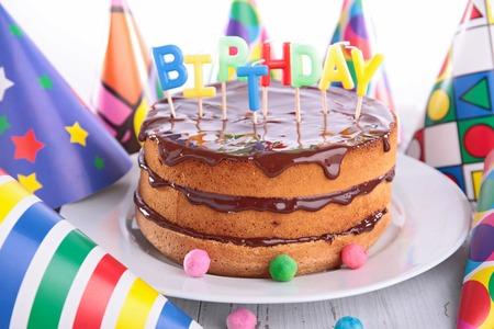 Pastel de cumpleaños  Foto de archivo - 41405988