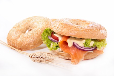 bagels: bagels with smoked salmon