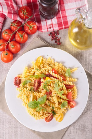 epicure: pasta with tomato and basil