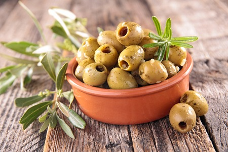 olive green: green olive Stock Photo