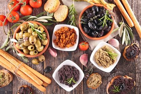 breadstick: olive,tapenade,breadstick