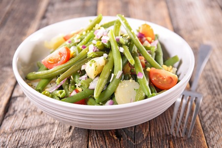 green bean: green bean salad with tomato and potato