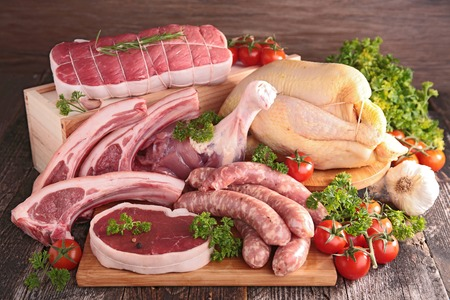 rauw vlees Stockfoto