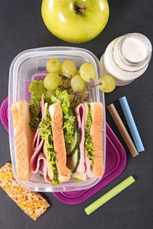 lunch: almuerzo escolar s�ndwich