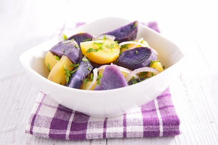 potato salad: potato salad Stock Photo