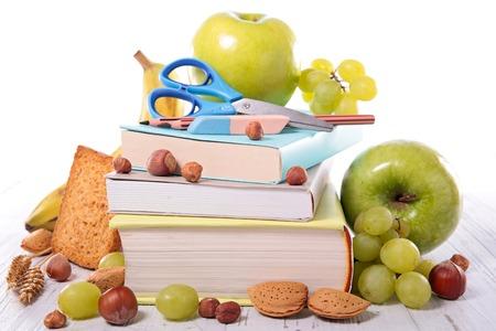 utiles escolares: alimentaci�n saludable, volver a la escuela