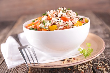 bellpepper: rice salad Stock Photo