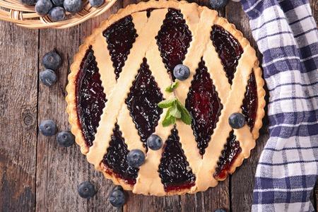 tart: blueberry tart Stock Photo