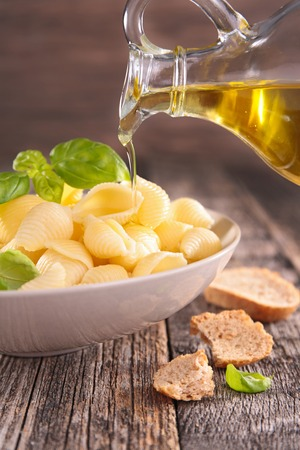 cooking oil: bowl of pasta and cooking oil