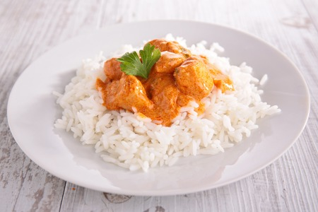 curry: pollo y arroz