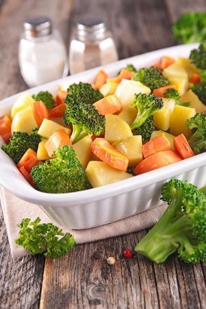 comidas saludables: verdura cocida