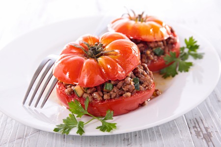 minced beef: stuffed tomato with minced beef