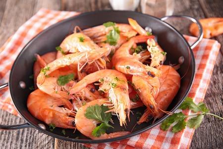 casserole: casserole with shrimp Stock Photo