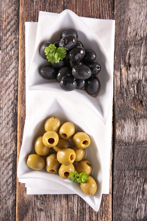 black olive: green and black olive Stock Photo