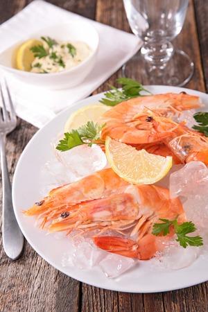 entrees: fresh shrimp and sauce