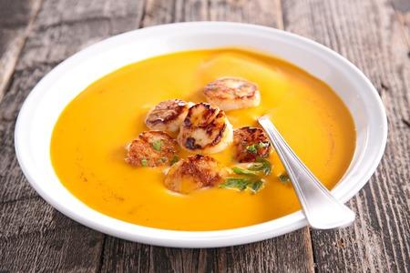 petoncle: soupe et pétoncles