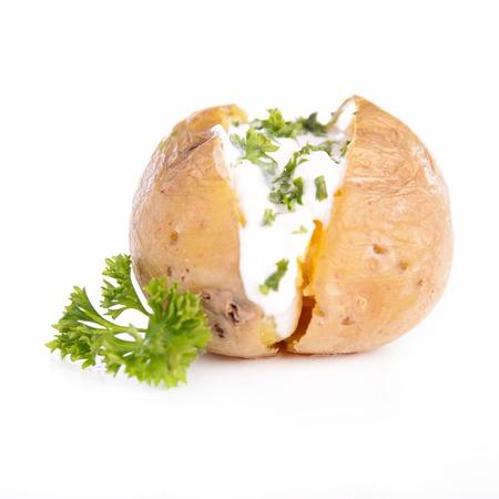 baked potato with cream