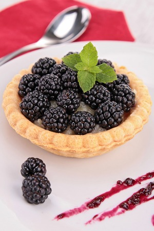 blackberry: blackberry pie Stock Photo