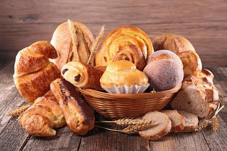 croissant en brood Stockfoto
