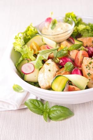 cucumber salad: chicken salad