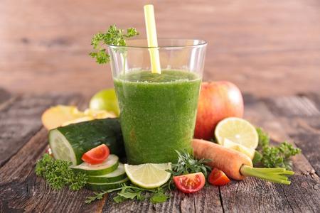 野菜のスムージー 写真素材
