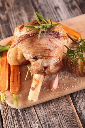 lamb chop: grilled lamb chop Stock Photo