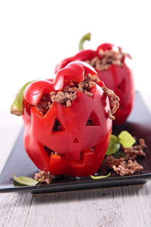 bell pepper: halloween bell pepper Stock Photo