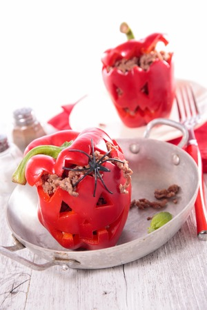 bellpepper: baked bell pepper with minced beef