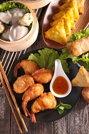 buffet: assortment of chinese food Stock Photo