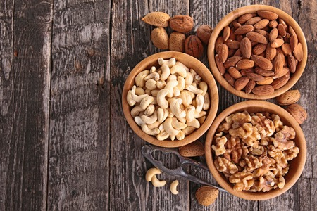 fruit bowl: assorted nuts
