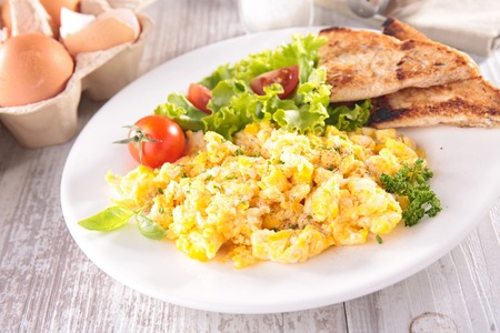 scrambled: scrambled egg